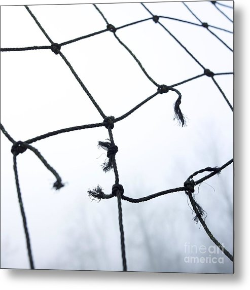 Abandoned Metal Print featuring the photograph Goal by Bernard Jaubert