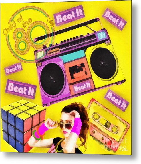 Beat It Metal Print featuring the digital art Beat It by Mo T