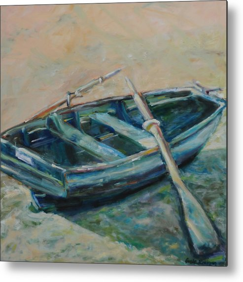 Boat Metal Print featuring the painting San Francisco Dinghy by Susie Jernigan