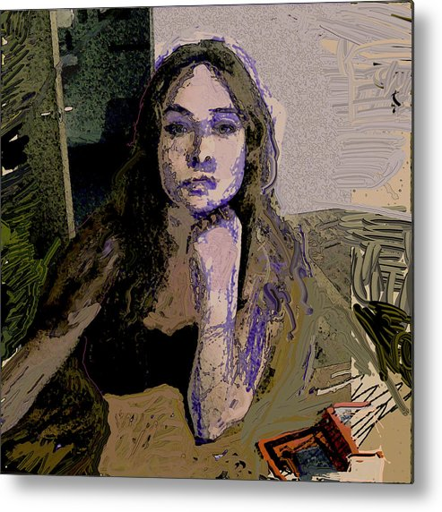 Portrait Metal Print featuring the painting And.. by Noredin Morgan