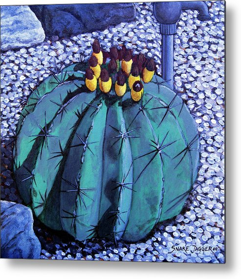 Nature Metal Print featuring the painting Barrel Buds by Snake Jagger