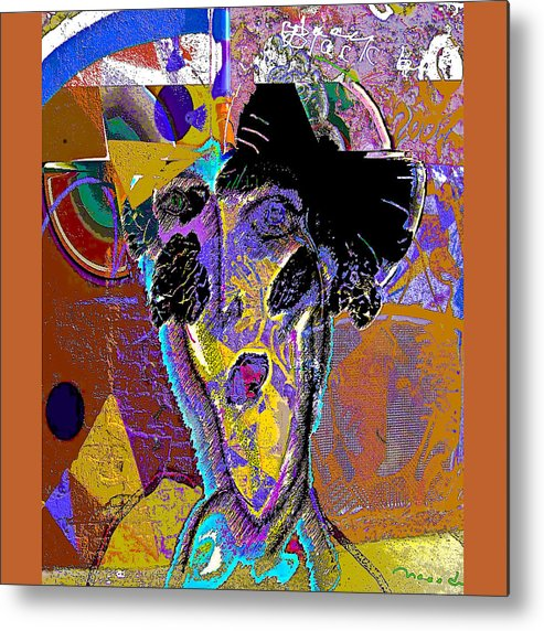 Grafiti Metal Print featuring the painting Black Butterfly by Noredin Morgan