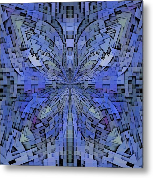 Abstract Metal Print featuring the digital art Can You Hear Me Now by Tim Allen