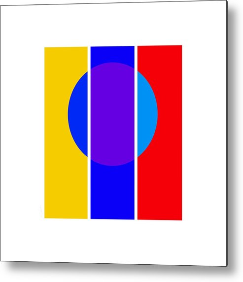 Primary Colors Metal Print featuring the painting Color And Form by Charles Stuart
