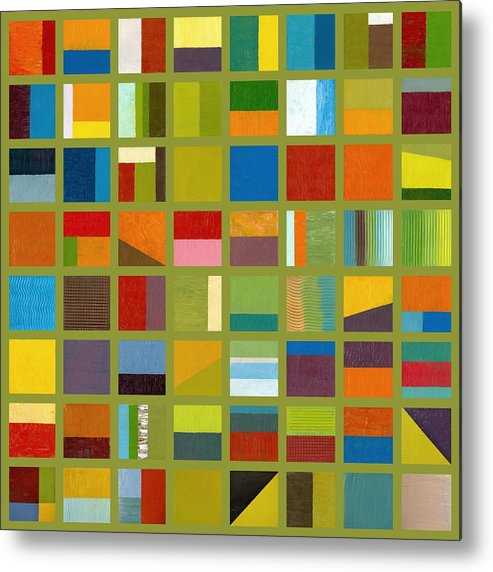 Abstract Metal Print featuring the painting Color Study Collage 64 by Michelle Calkins