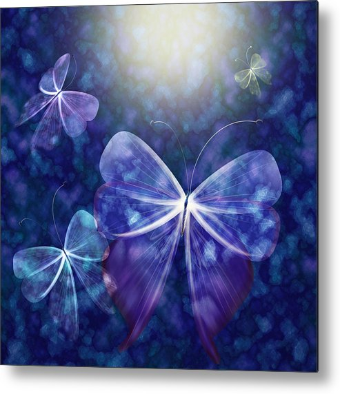 Butterfly Metal Print featuring the digital art Come Into The Light by Gae Helton