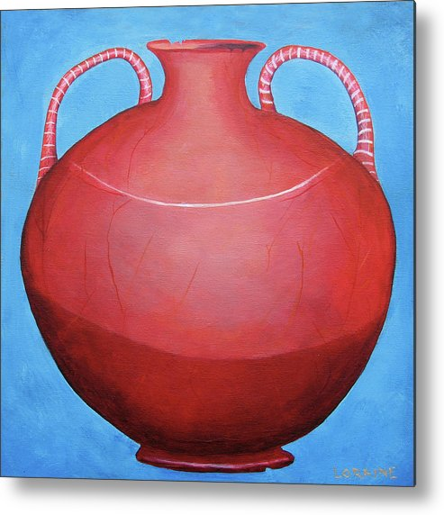Pot Metal Print featuring the painting Crack Pot by Loraine LeBlanc