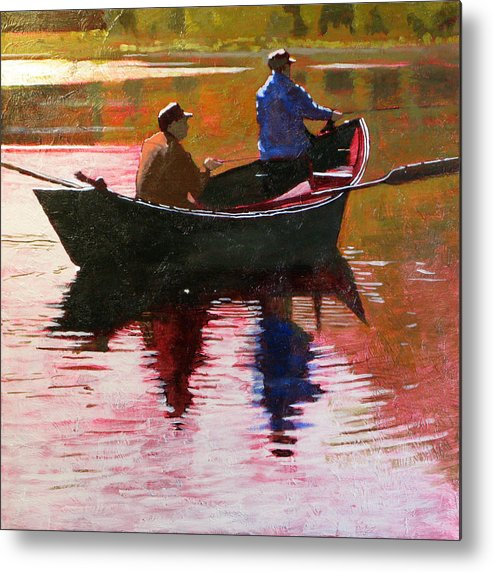 Boat Metal Print featuring the painting Fishermen by Robert Bissett