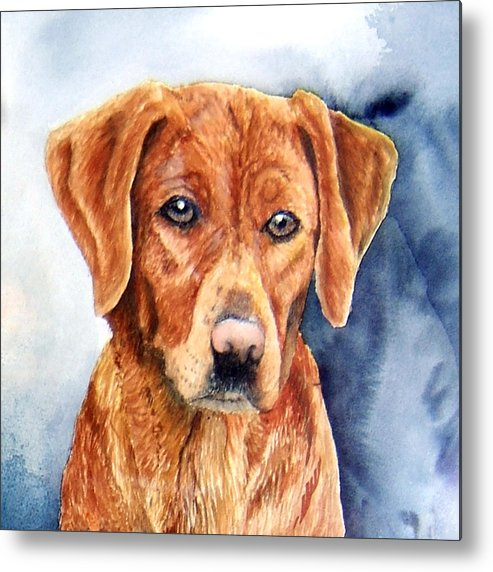 Golden Retriever Metal Print featuring the print Golden Retriever Sara by JoLyn Holladay