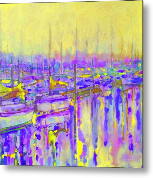Harbor Metal Print featuring the painting Harbor Sunrise II Seven Am by Kip Decker