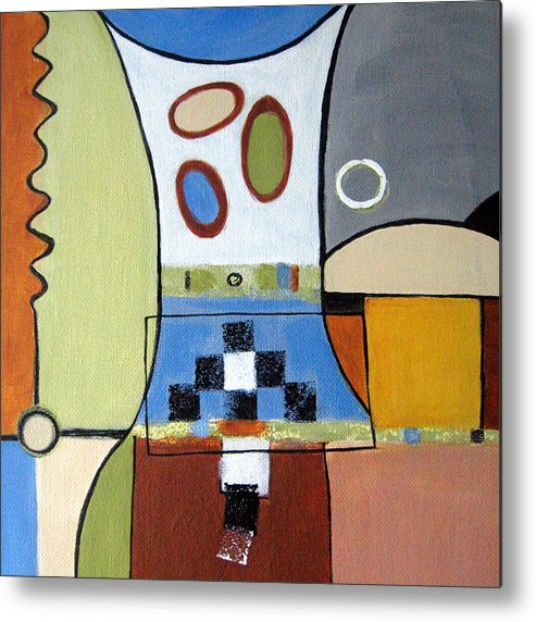 Abstract Metal Print featuring the painting Headspin by Ruth Palmer