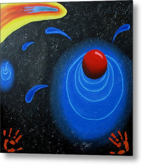 Sky Metal Print featuring the painting Imagination by Juli House
