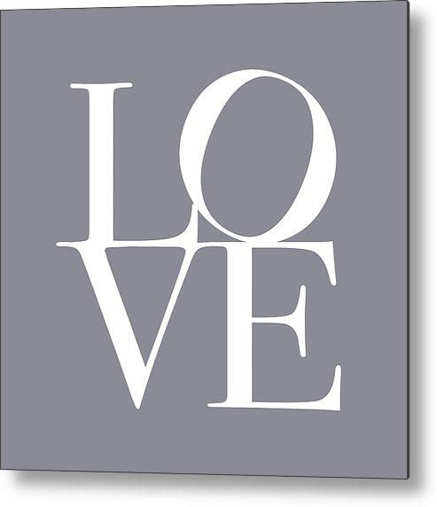 Love Metal Print featuring the digital art Love In Grey by Michael Tompsett