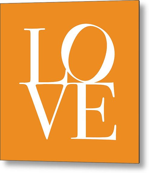 Love Metal Print featuring the digital art Love In Orange by Michael Tompsett
