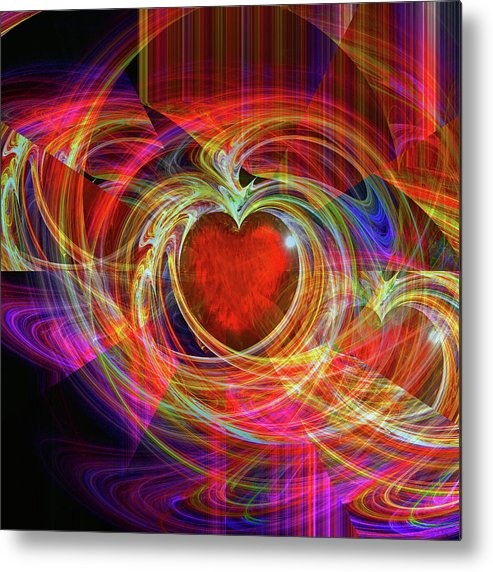 Digital Metal Print featuring the digital art Love's Joy by Michael Durst