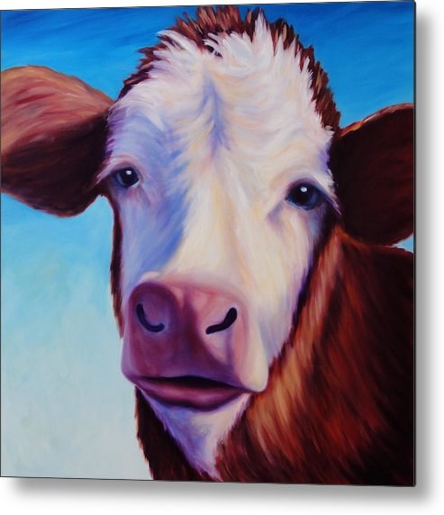 Cow Metal Print featuring the painting Marie by Shannon Grissom