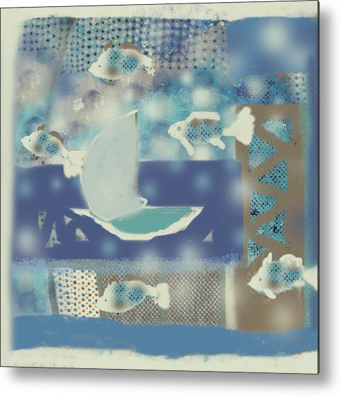 Fish Metal Print featuring the digital art My Dream's Journey by Aliza Souleyeva-Alexander