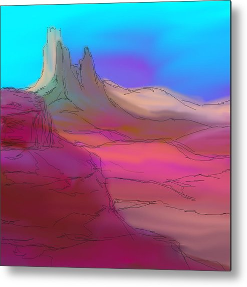Desert Metal Print featuring the painting My Pink Desert by Tracy Koehler