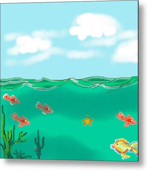 Ocean Metal Print featuring the digital art Ocean by Carole Boyd
