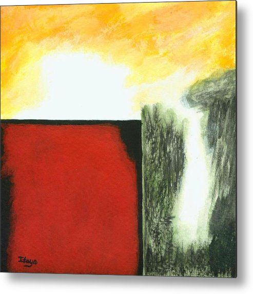 Abstract Metal Print featuring the painting Pandoras Box by Itaya Lightbourne