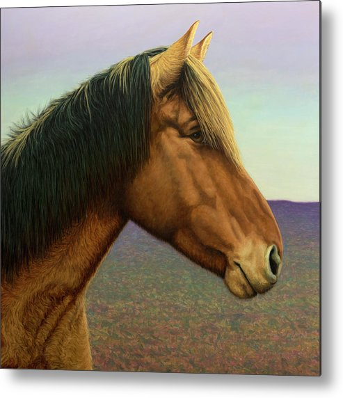 Horse Metal Print featuring the painting Portrait Of A Horse by James W Johnson