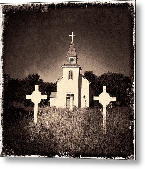 Church Metal Print featuring the photograph San Patricio Church IIi Sepia by Matt Suess