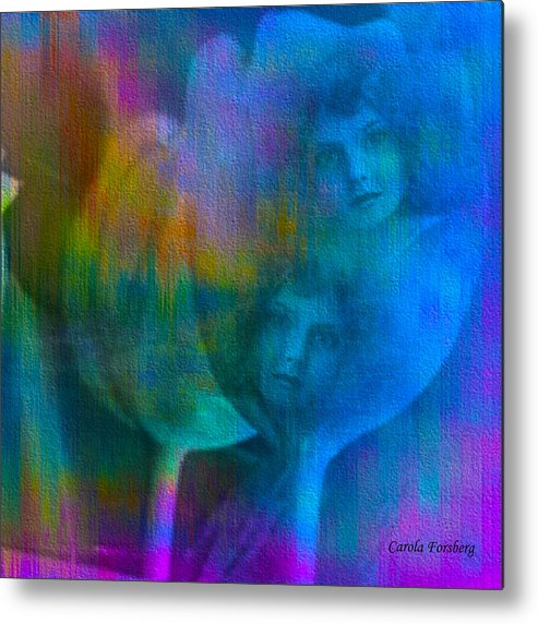 Metal Print featuring the digital art Sisters by Carola Ann-Margret Forsberg