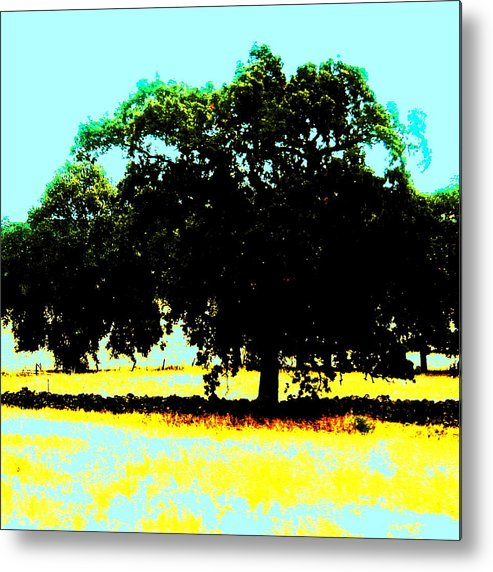Trees Metal Print featuring the painting Solitude by Tim Tanis