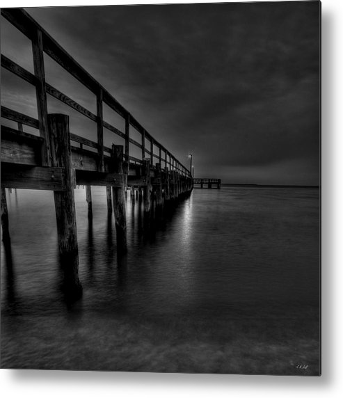 Hdr Metal Print featuring the photograph Square Pier by E R Smith