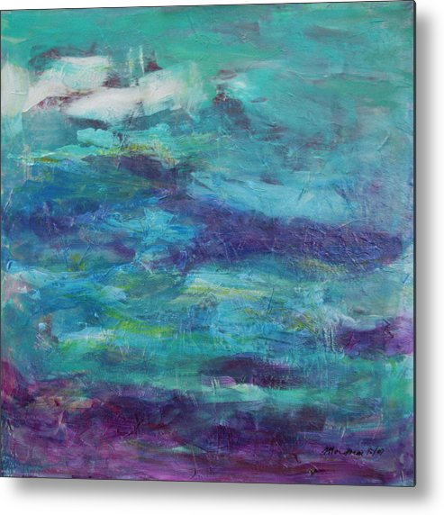 Abstract Metal Print featuring the painting Stream by Mordecai Colodner