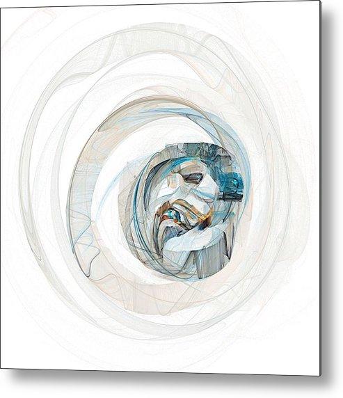 Square Metal Print featuring the digital art Subtleness by Flavio Coelho