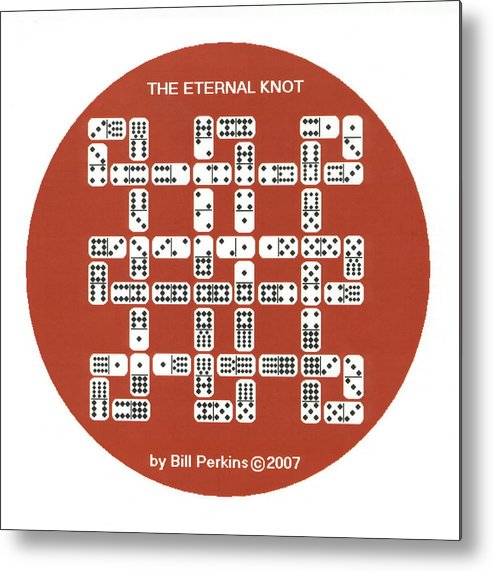 Puzzle Metal Print featuring the digital art The Eternal Knot by Bill Perkins