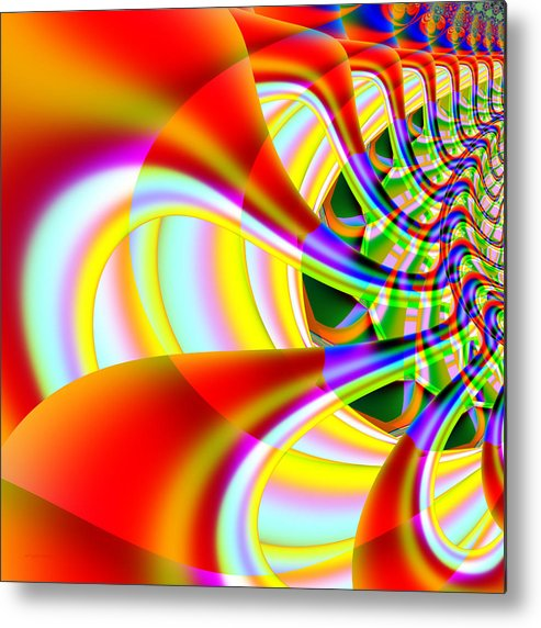 Fractal Metal Print featuring the digital art The Marching Band . Square . S14 by Wingsdomain Art and Photography