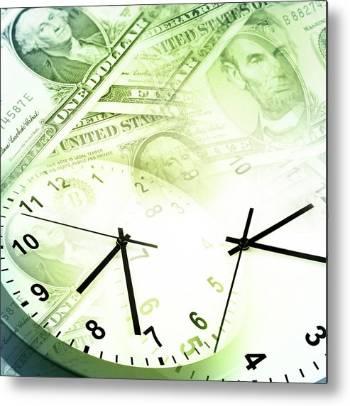 Banking Metal Print featuring the photograph Time Is Money by Les Cunliffe