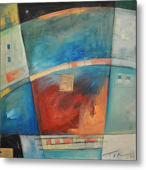 Abstract Metal Print featuring the painting When Pigs Fly by Tim Nyberg