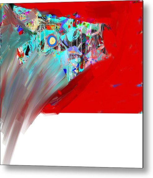 Abstract Metal Print featuring the digital art Yikes by Dave Kwinter