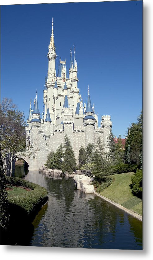 Cinderella Castle Metal Print featuring the photograph Cinderella Castle Reflections by Charles Ridgway