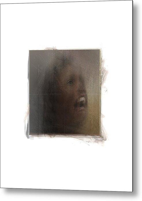 Portrait Metal Print featuring the digital art Choir by Nuff