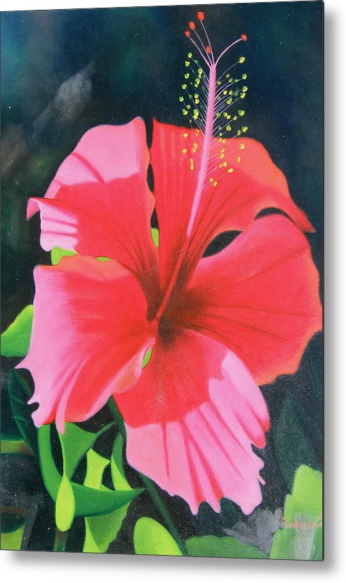 Flower Close Up Metal Print featuring the painting Up Close And Personal Too by Imagine Art Works Studio
