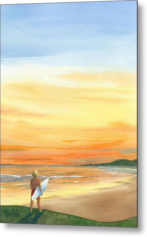 Carpinteria Sunset Metal Print featuring the painting At Sunset by Ray Cole