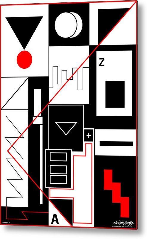 Asbjorn Lonvig Metal Print featuring the digital art Perception II by Asbjorn Lonvig