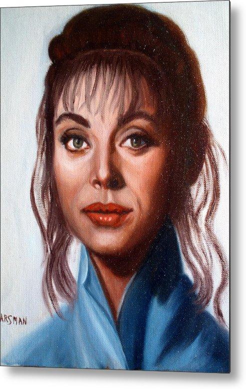 Portrait Metal Print featuring the painting Larissa by Lia Marsman