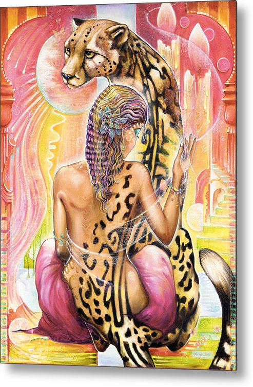 Animals Metal Print featuring the painting Oneness by Blaze Warrender