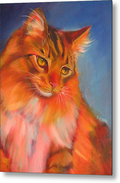 Maine Coon Cat Metal Print featuring the painting Romeo by Kaytee Esser