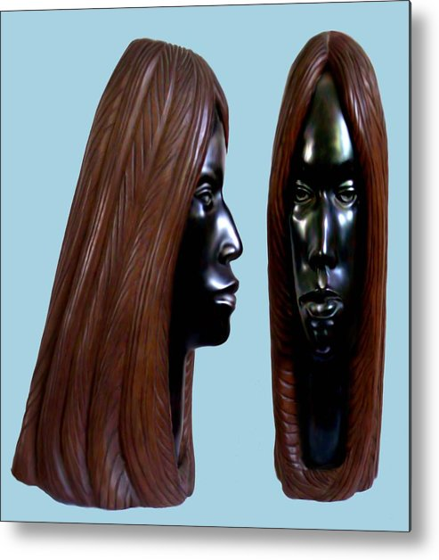 Wood Metal Print featuring the sculpture Black Beauty by Jorge Gomez Manzano