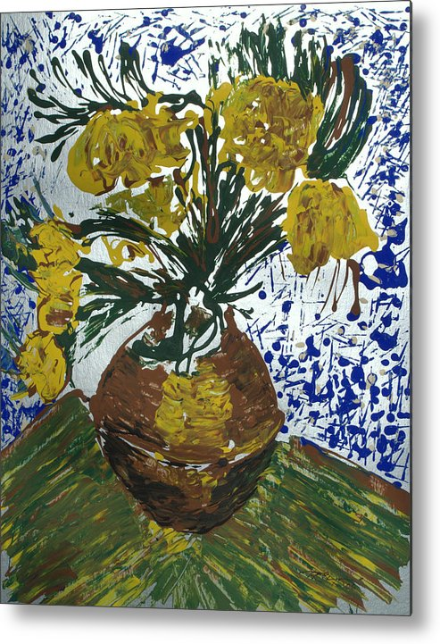 Flowers Metal Print featuring the painting Van Gogh by J R Seymour