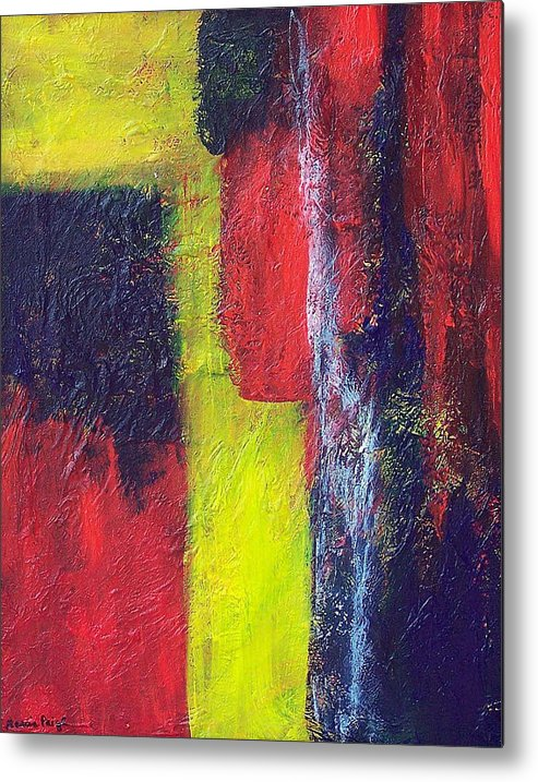 Abstract Metal Print featuring the painting Moods by Marcia Paige