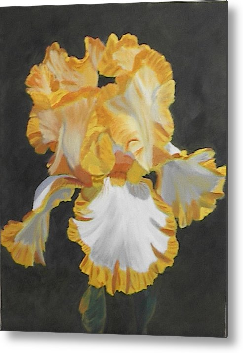 Floral Metal Print featuring the painting Trimmed In Yellow 2 by Robert Tower