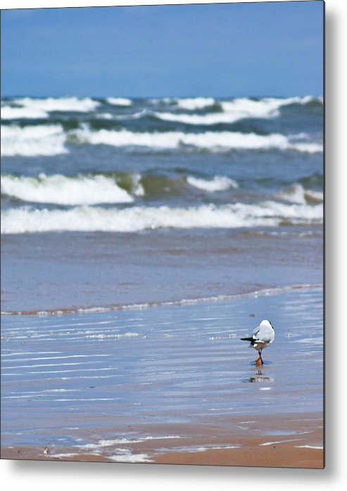 The Sea Metal Print featuring the photograph Walking On The Water by Vadim Grabbe
