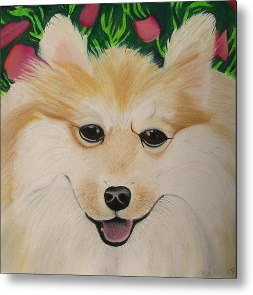 Dog Portrait Metal Print featuring the painting Daisy by Michelle Hayden-Marsan